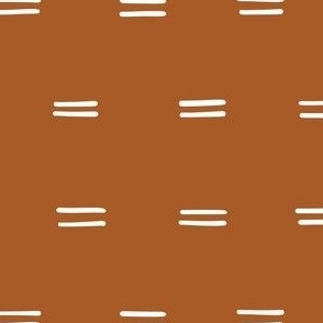 Mudcloth copper dashes parallel lines horizontal lines mudcloth simple-25