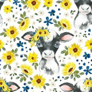 cows and sunflowers
