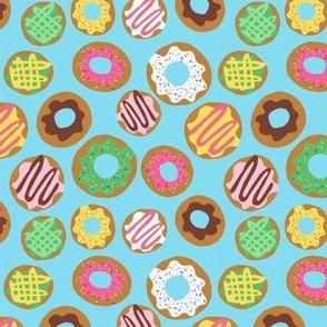 Donut Allover Blue