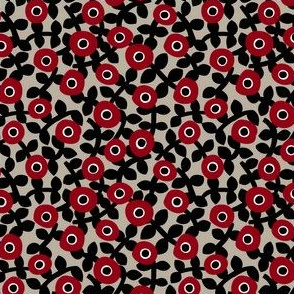 deco ditsy red