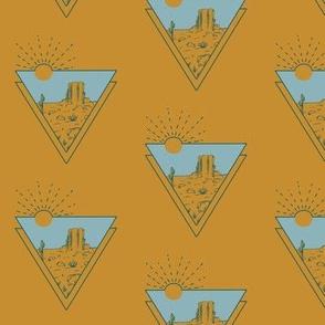 Scenic Plateau Triangles Mustard