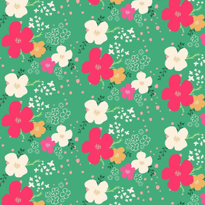 Warm Christmas Floral Pattern