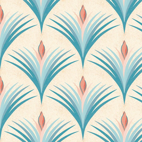 Scallop floral pattern