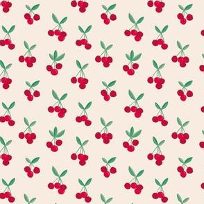 Little Cherry love garden for spring summer red soft beige green nursery design SMALL