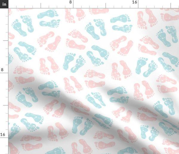 Baby Feet Pink Blue Nursing Lad2 Spoonflower
