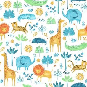 watercolour jungle