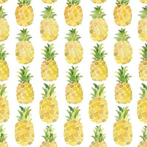Watercolor pineapple small vertical