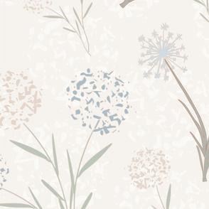 Wild Flowers w/ Green Tossed Pattern