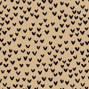 Little love abstract inky lovers minimal Scandinavian trend design caramel black neutral nursery