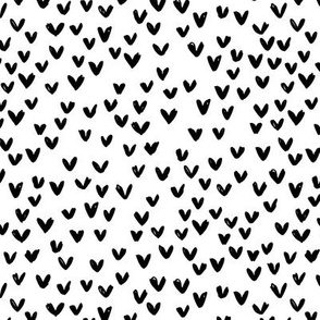 Little love abstract inky lovers minimal Scandinavian trend design monochrome black and white neutral nursery