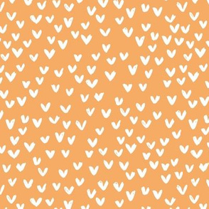 Little love abstract inky lovers minimal Scandinavian trend design honey yellow orange girls neutral nursery