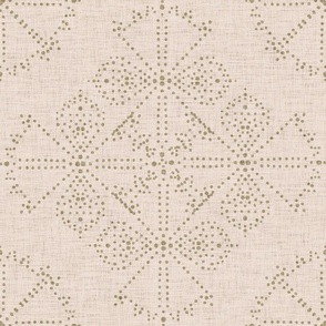Delicate Dotty Fans - Blush and Olive