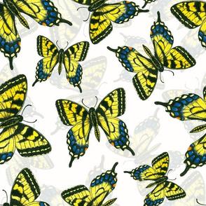 Tiger swallowtail butterfly watercolor pattern 2