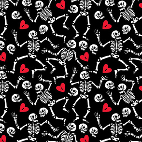Skeleton in love at the party