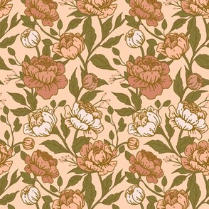 Chintz floral dusty rose - Small