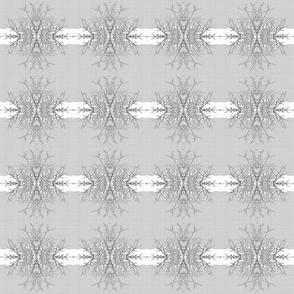 Twig Snowflake Burst Stripe Mini, Gray