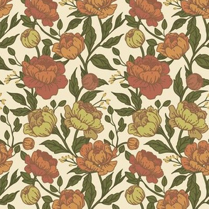Chintz floral autumn- Small