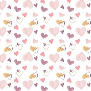 Blush Pink Hearts