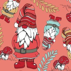 Colorful Gnomes - Coral