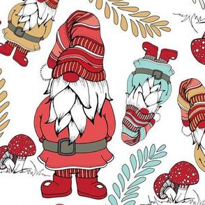 Colorful Gnomes - White