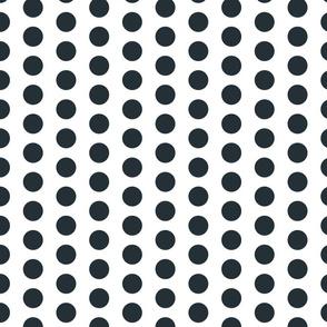 Small Dark Grey Polka Dots