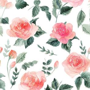 watercolor rose - large