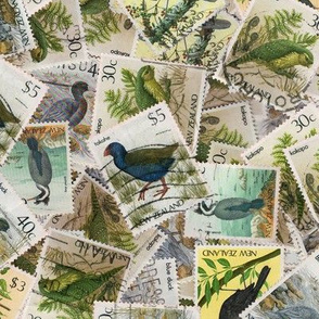 NZ stamps - birds - large
