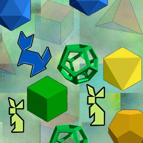 Platonic Solid Building Blocks