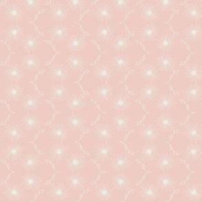 wishing away dandelion wave - soft pink