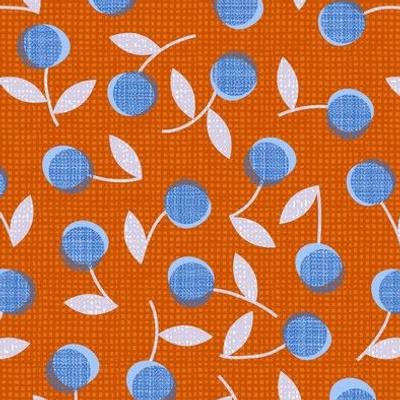 Modern dotty flowers-orange