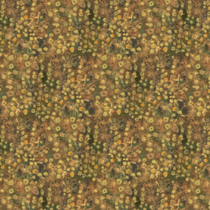Golden Meadow Abstract Floral Felted Wool Pattern