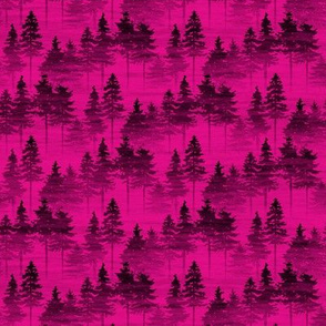 Forest Mist Small 2 - hot pink