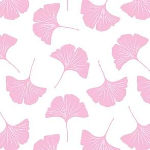 Minimal love ginkgo leaf garden japanese botanical spring leaves soft neutral nursery white pink girls