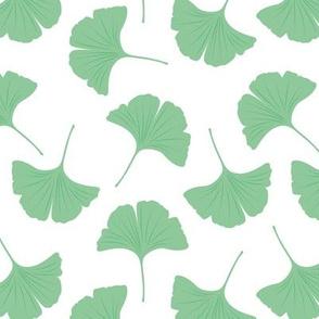 Minimal love ginkgo leaf garden japanese botanical spring leaves soft neutral nursery sage green