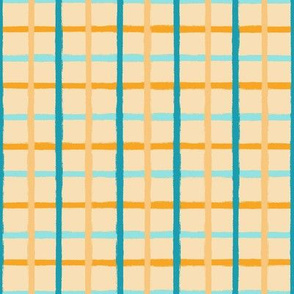 Shades of Yellow and Blue Plaid