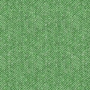 faux tweedy kelly green herringbone tweed