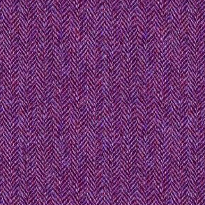 faux tweedy red-violet herringbone tweed
