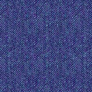 faux tweedy blue-violet herringbone tweed