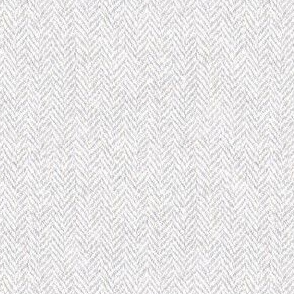 faux tweedy pale grey herringbone tweed
