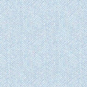 faux tweedy pale blue herringbone tweed
