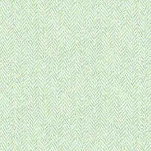 faux tweedy pale green herringbone tweed
