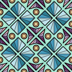 Max Modern Quilt Vintage Eastern European Geometric Diamonds