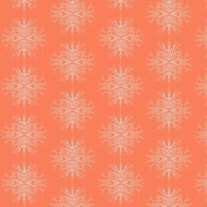 Frosty Twig Burst in Orange