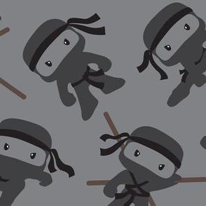 Ninjas on Gray