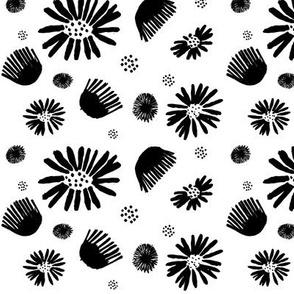 Black and White Posies