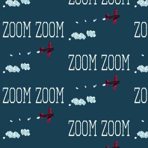 Zoom Plane Blue Red White