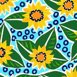 Sunflower Large Scale - Blue