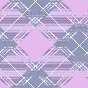 Lavender Diagonal Plaid V01