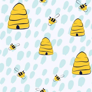 Bees in the rain