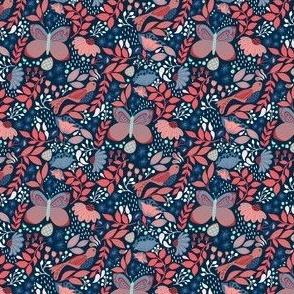 Botanic Garden-Crimson Blue